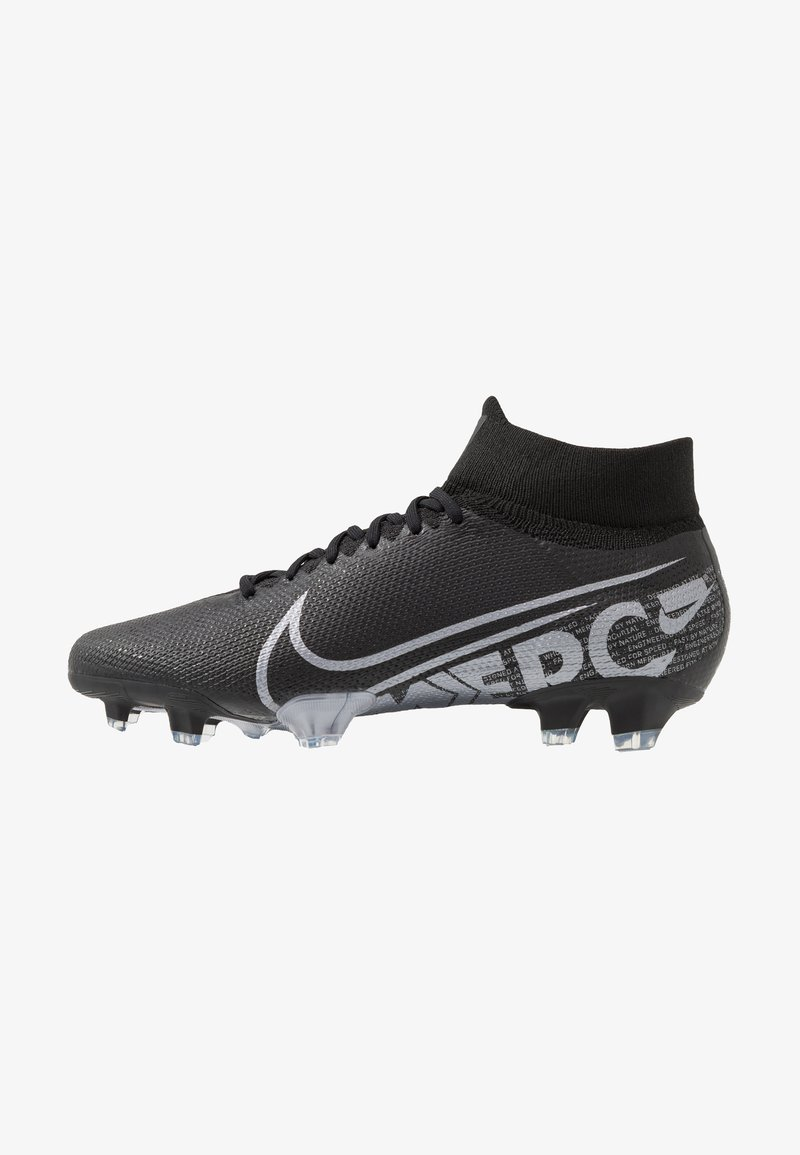 Nike Performance - 7 PRO FG - Fußballschuh Nocken - black/metallic cool grey/cool grey