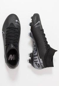 Nike Performance - 7 PRO FG - Tekonurmikengät - black/metallic cool grey/cool grey - 1