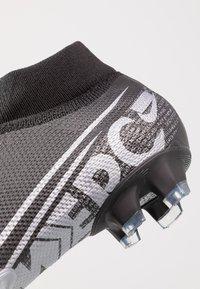 Nike Performance - 7 PRO FG - Tekonurmikengät - black/metallic cool grey/cool grey - 5