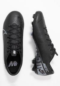 Nike Performance - MERCURIAL VAPOR 13 ACADEMY MG - Chaussures de foot à crampons - black/metallic cool grey/cool grey - 1