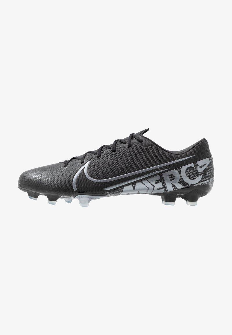 Nike Performance - VAPOR ACADEMY - Moulded stud football boots - black/metallic cool grey/cool grey