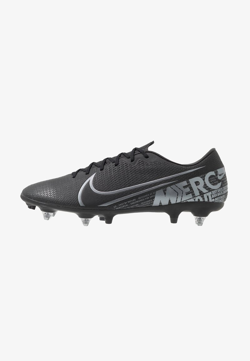 Nike Performance - VAPOR 13 ACADEMY SG-PRO AC - Screw-in stud football boots - black/metallic cool grey/cool grey