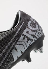 Nike Performance - VAPOR 13 ACADEMY SG-PRO AC - Nurmikengät - black/metallic cool grey/cool grey - 6