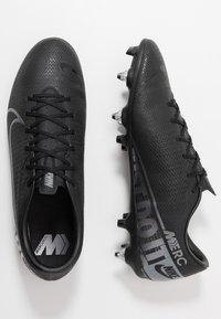 Nike Performance - VAPOR 13 ACADEMY SG-PRO AC - Nurmikengät - black/metallic cool grey/cool grey - 1
