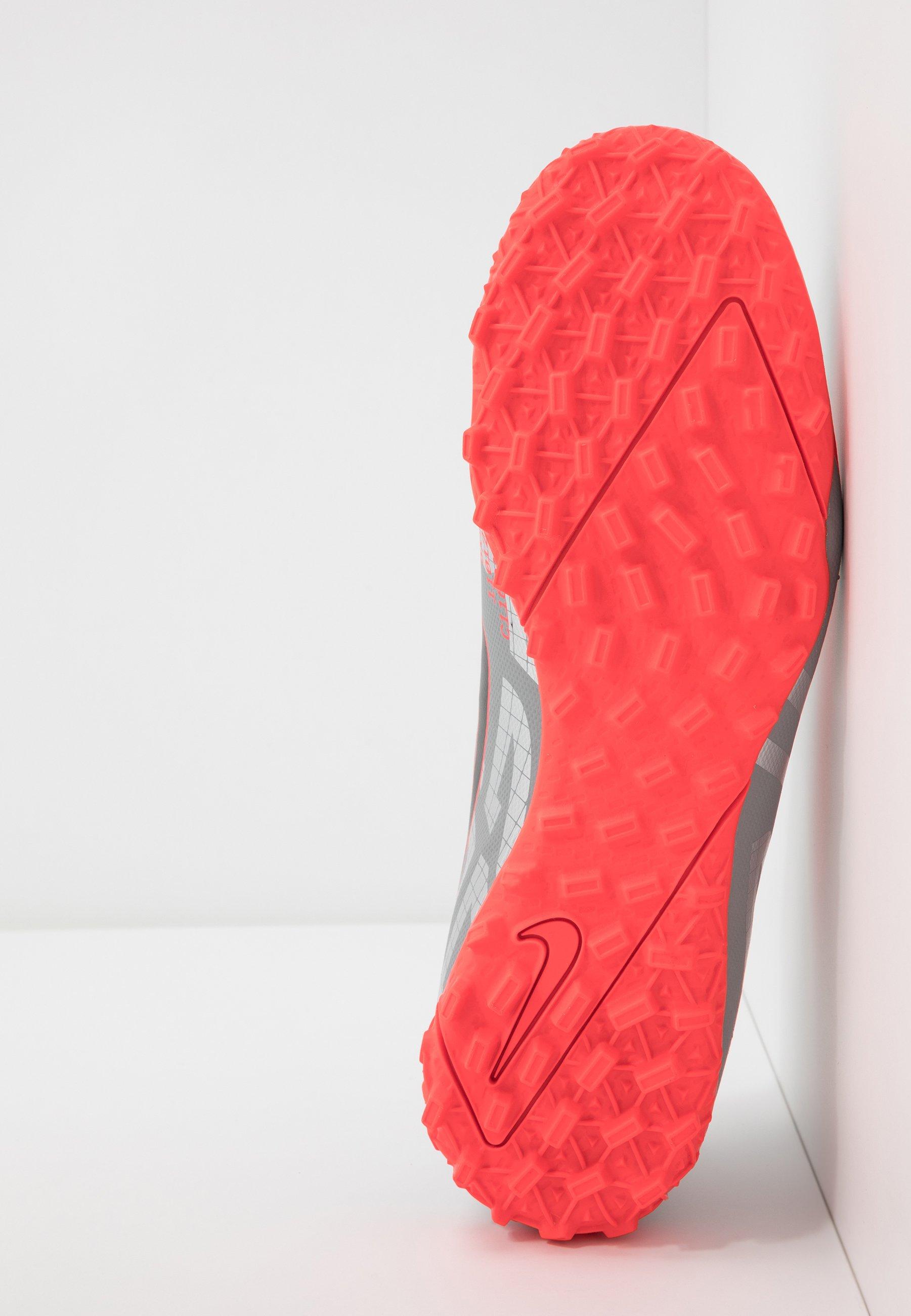 Nike Performance Mercurial Vapor 13 Academy Tf - Chaussures De Foot Multicrampons Metallic Bomber Grey/black/particle Grey