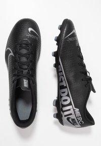 Nike Performance - MERCURIAL VAPOR - Voetbalschoenen met kunststof noppen - black/metallic cool grey/cool grey - 1