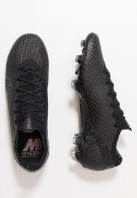 Nike Performance - MERCURIAL VAPOR 13 ELITE FG - Voetbalschoenen met kunststof noppen - black/matte silver/metallic cool grey/blue fury - 1