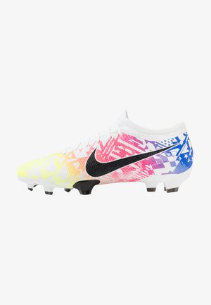 MERCURIAL VAPOR 13 PRO NEYMAR FG - Moulded stud football boots - white/black/racer blue/volt