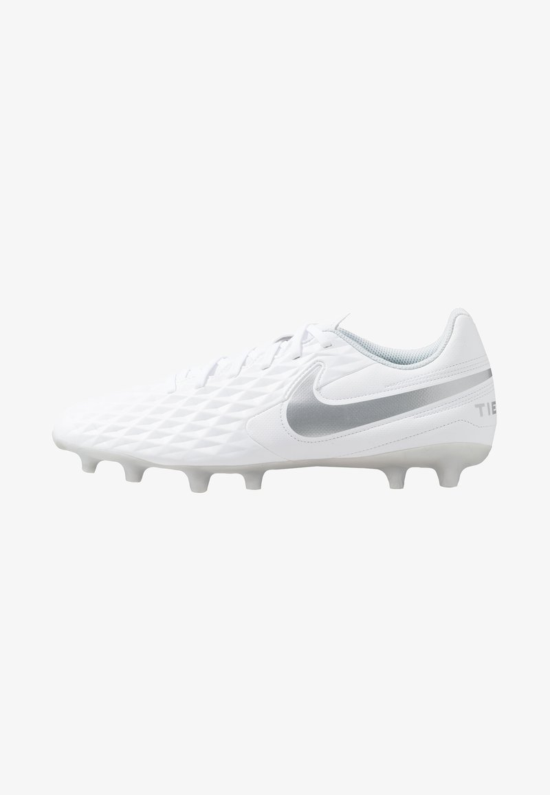 Nike Performance - LEGEND 8 CLUB FG/MG - Moulded stud football boots - white/chrome/pure platinum/wolf grey