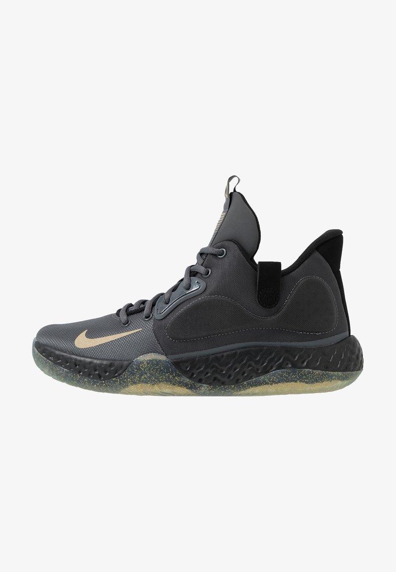 Nike Performance - KD TREY 5 VII - Basketball shoes - dark grey/metalic gold/black/club gold
