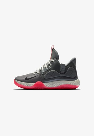KD TREY  VII - Basketball shoes - smoke grey/light bone/laser crimson/black