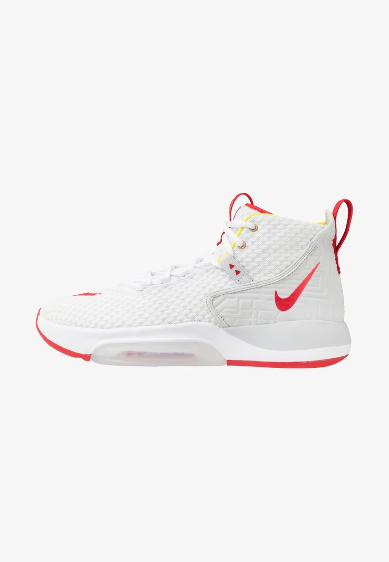 Nike Performance - ZOOM RIZE - Basketsko - white/red orbit/aurora green