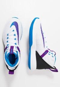 Nike Performance - ZOOM RIZE - Obuwie do koszykówki - white/photo blue/black/voltage purple - 1
