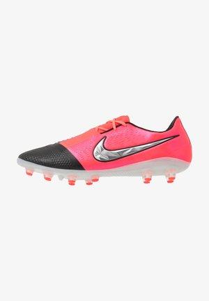 PHANTOM ELITE AG-PRO - Chaussures de foot à crampons - laser crimson/metallic silver/black