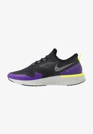 ODYSSEY REACT 2 SHIELD - Neutral running shoes - black/metallic silver/voltage purple
