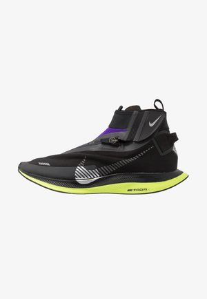 ZOOM PEGASUS TURBO SHIELD WP - Neutrala löparskor - black/metallic silver/voltage purple