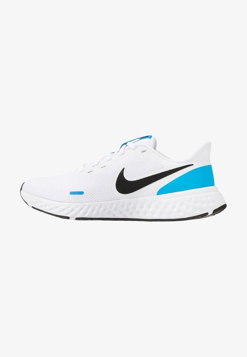 Nike Performance - REVOLUTION 5 - Obuwie do biegania treningowe - white/black/blue hero