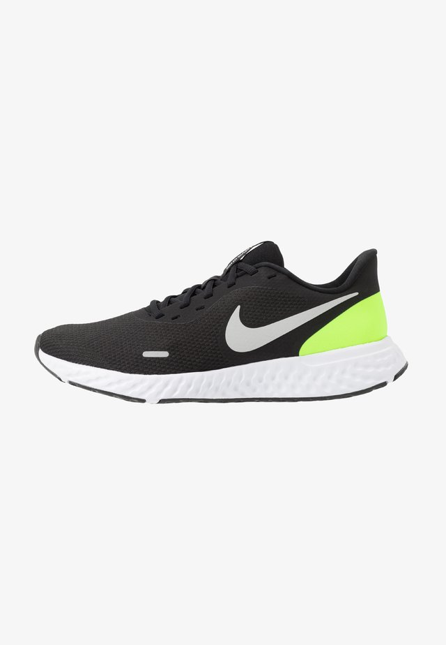 REVOLUTION 5 - Scarpe running neutre - black/grey fog/volt/white