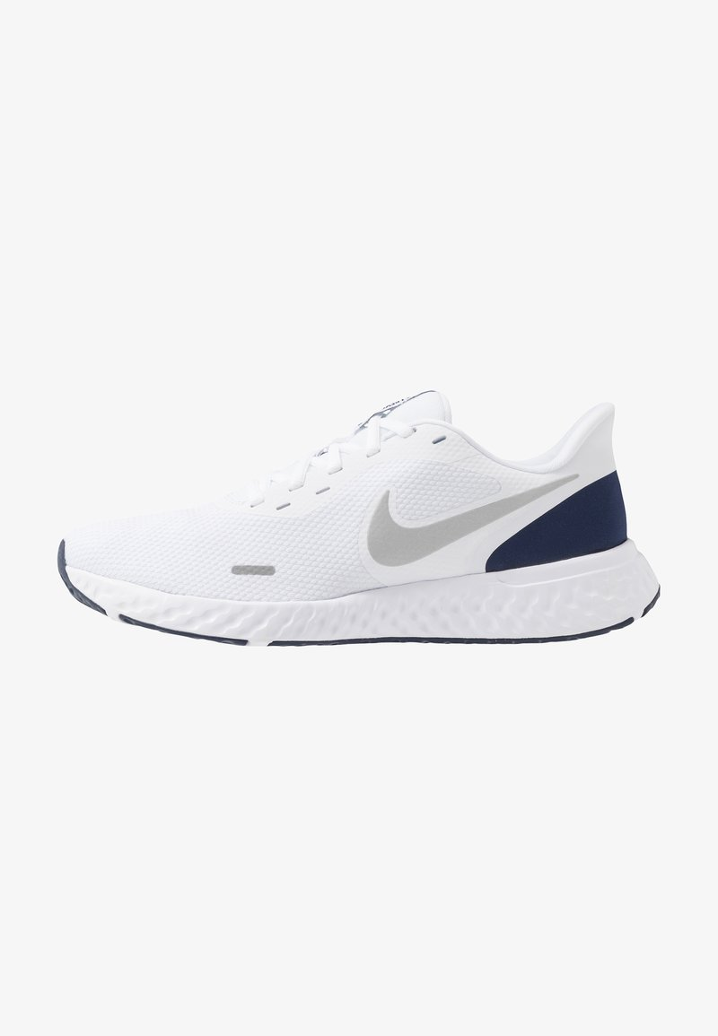 Nike Performance - REVOLUTION 5 - Neutral running shoes - white/metallic silver/midnight navy