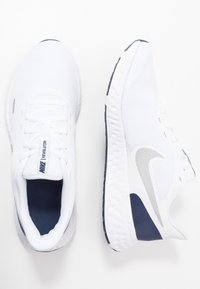 Nike Performance - REVOLUTION 5 - Neutral running shoes - white/metallic silver/midnight navy - 1