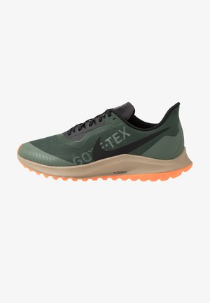 ZOOM PEGASUS 36 TRAIL GTX - Trail running shoes - galactic jade/black/juniper fog/khaki
