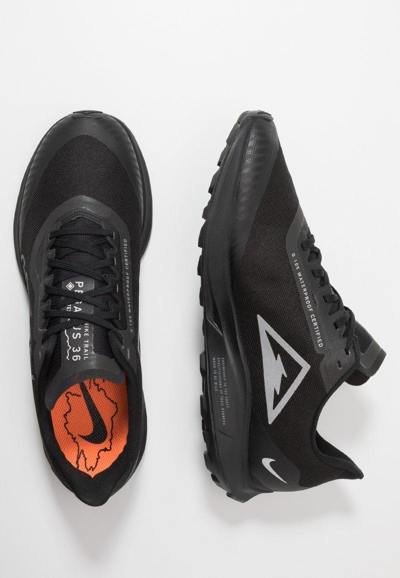 Nike Performance ZOOM PEGASUS 36 TRAIL GTX - Løpesko for mark - black/thunder grey/total orange