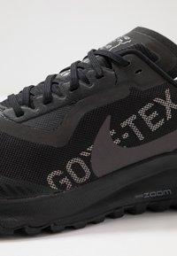 Nike Performance - ZOOM PEGASUS 36 TRAIL GTX - Trail running shoes - black/thunder grey/total orange - 5