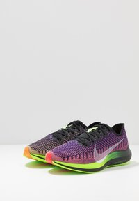 Nike Performance - ZOOM PEGASUS TURBO 2 WILD RUN - Löparskor för tävling - black/green/orange/purple - 2