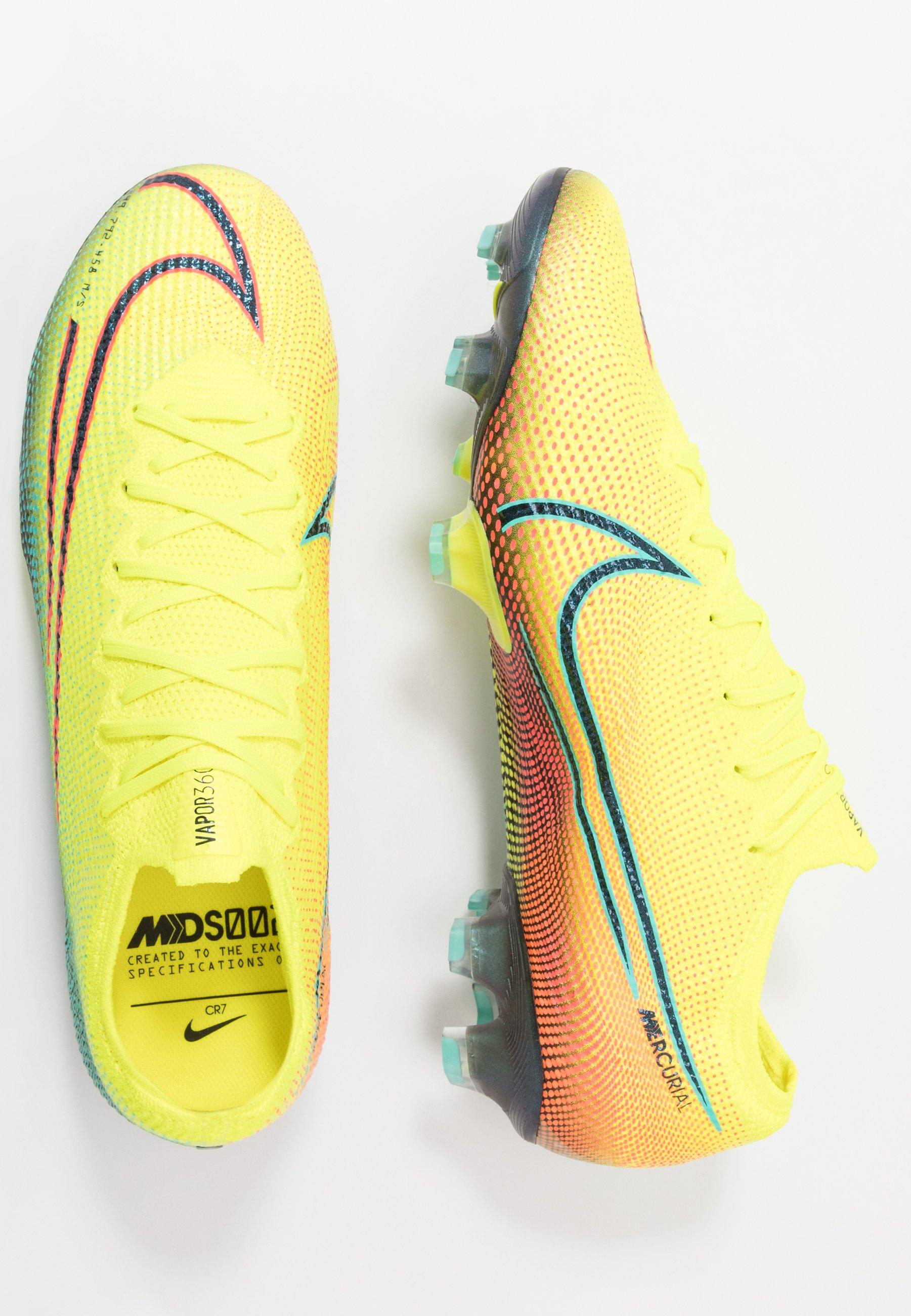 Nike Performance MERCURIAL VAPOR 13 ELITE FG - Fodboldstøvler m/ faste knobber - lemon/black/aurora green