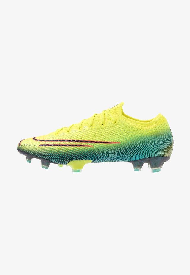 MERCURIAL VAPOR 13 ELITE FG - Voetbalschoenen met kunststof noppen - lemon/black/aurora green