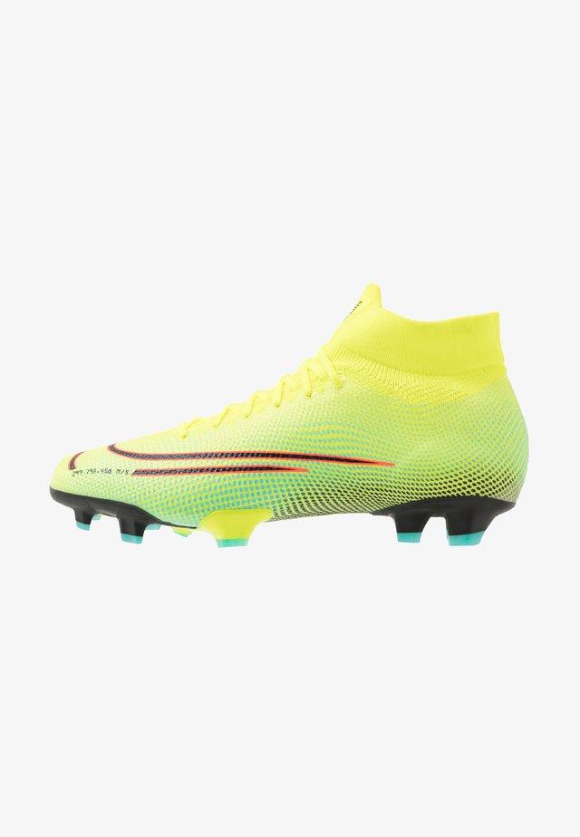 MERCURIAL 7 PRO MDS FG - Voetbalschoenen met kunststof noppen - lemon/black/aurora green