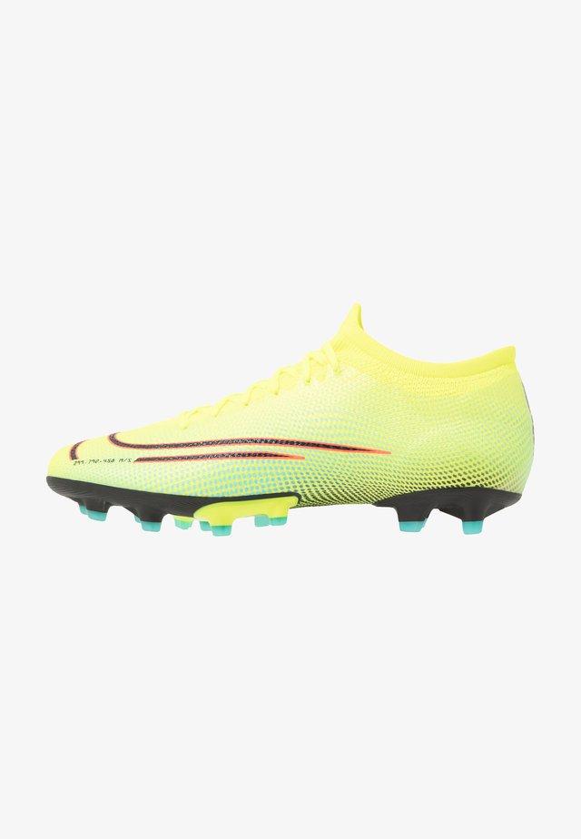 MERCURIAL VAPOR 13 PRO MDS AG-PRO - Voetbalschoenen met kunststof noppen - lemon/black/aurora green