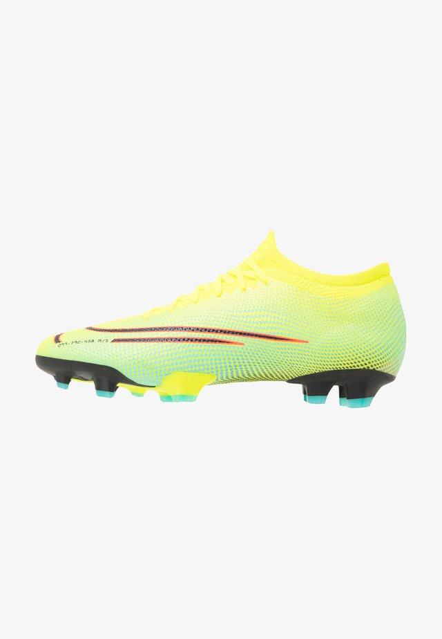 MERCURIAL VAPOR 13 PRO FG - Moulded stud football boots - lemon/black/aurora green