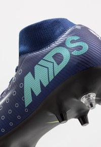 Nike Performance - MERCURIAL SFLY 7 ACADEMY SG-PRO AC - Kopačky s kolíky - blue void/metallic silver/white/black - 7
