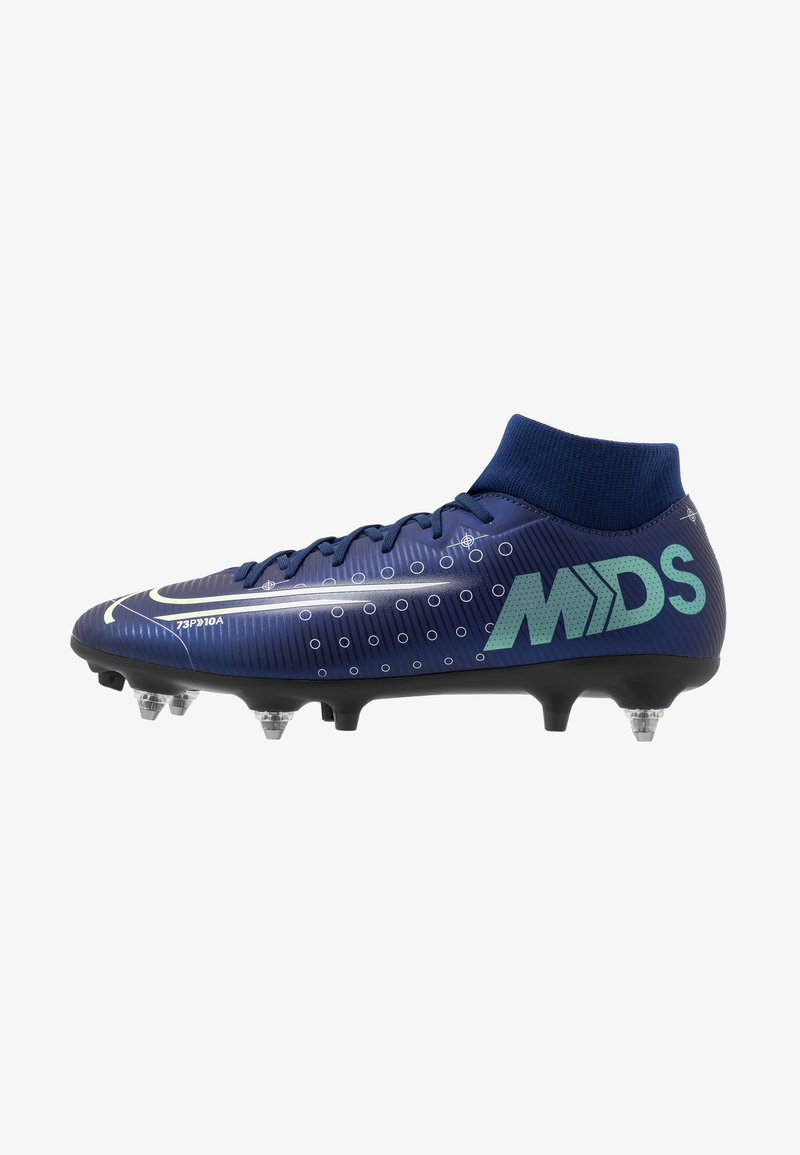 Nike Performance - MERCURIAL SFLY 7 ACADEMY SG-PRO AC - Kopačky s kolíky - blue void/metallic silver/white/black