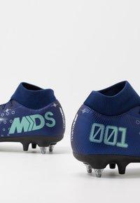 Nike Performance - MERCURIAL SFLY 7 ACADEMY SG-PRO AC - Kopačky s kolíky - blue void/metallic silver/white/black - 5