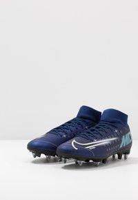 Nike Performance - MERCURIAL SFLY 7 ACADEMY SG-PRO AC - Kopačky s kolíky - blue void/metallic silver/white/black - 2