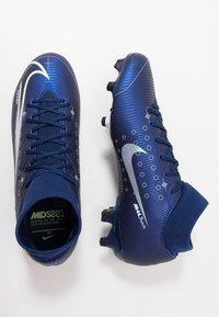 Nike Performance - MERCURIAL 7 ACADEMY FG/MG - Korki Turfy - blue void/metallic silver/white/black - 1