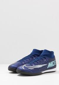 Nike Performance - MERCURIAL 7 ACADEMY IC - Halówki - blue void/metallic silver/white/black - 2