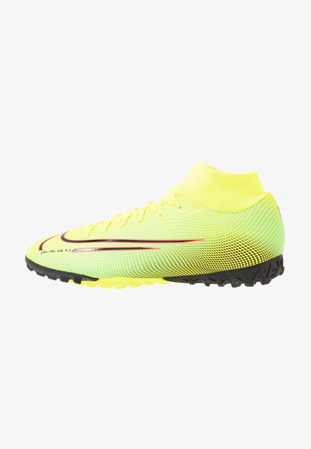 MERCURIAL 7 ACADEMY MDS TF - Voetbalschoenen voor kunstgras - lemon/black/aurora green