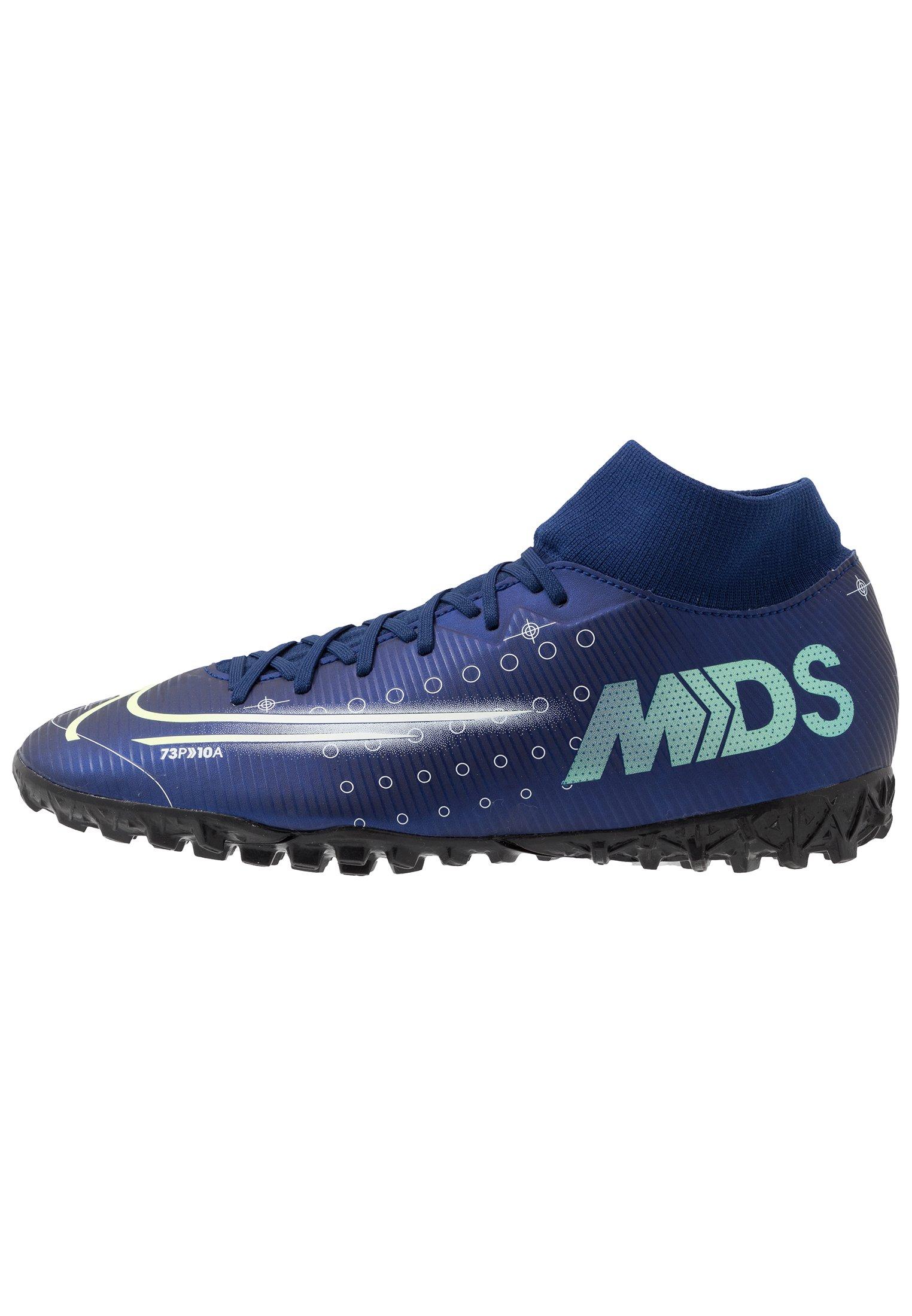 MERCURIAL 7 ACADEMY MDS TF Chaussures de foot multicrampons blue voidmetalic silverwhiteblack