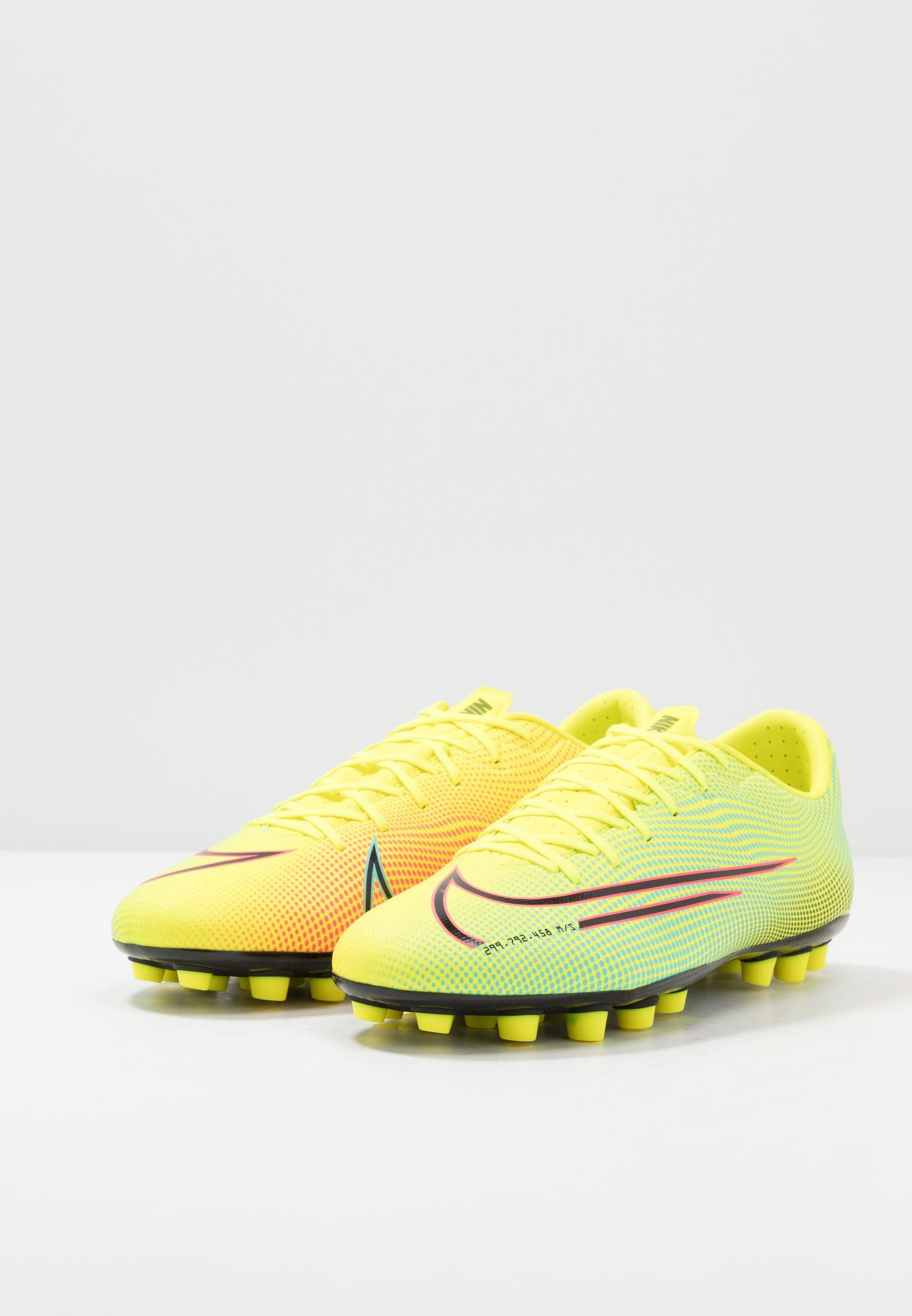 Nike Performance MERCURIAL VAPOR 13 ACADEMY MDS AG - Fodboldstøvler m/ faste knobber - lemon/black/aurora green