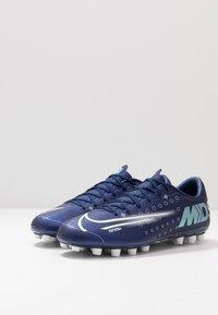 Nike Performance - MERCURIAL VAPOR 13 ACADEMY MDS AG - Korki Lanki - blue void/metallic silver/white/black - 2