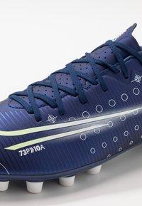 Nike Performance - MERCURIAL VAPOR 13 ACADEMY MDS AG - Korki Lanki - blue void/metallic silver/white/black - 5