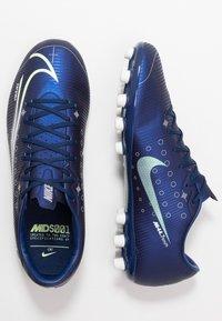 Nike Performance - MERCURIAL VAPOR 13 ACADEMY MDS AG - Korki Lanki - blue void/metallic silver/white/black - 1