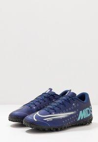 Nike Performance - MERCURIAL VAPOR 13 ACADEMY TF - Botas de fútbol multitacos - blue void/metallic silver/white/black - 2