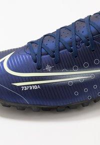 Nike Performance - MERCURIAL VAPOR 13 ACADEMY TF - Botas de fútbol multitacos - blue void/metallic silver/white/black - 5
