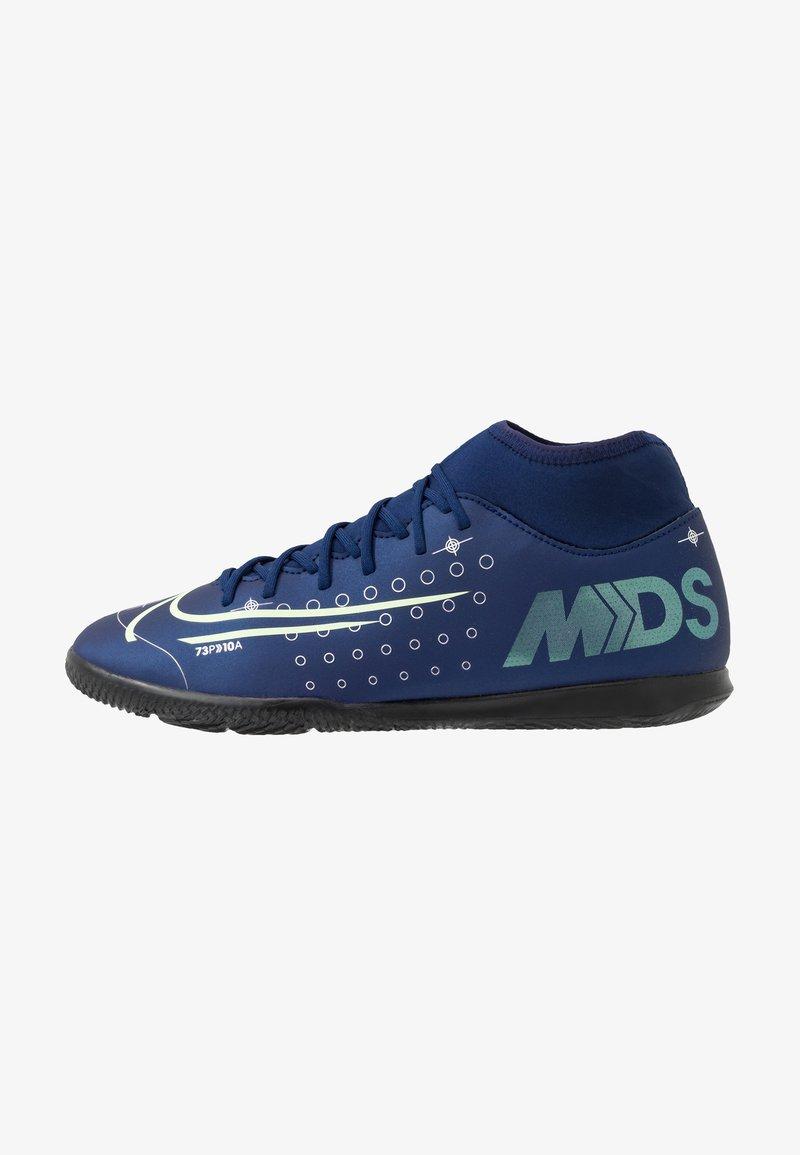 Nike Performance - MERCURIAL 7 CLUB IC - Botas de fútbol sin tacos - blue void/metalic silver/white/black