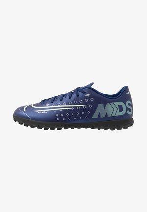 MERCURIAL VAPOR 13 CLUB TF - Botas de fútbol multitacos - blue void/metallic silver