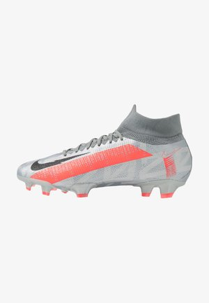 MERCURIAL 7 PRO FG - Moulded stud football boots - metallic bomber grey/black/particle grey
